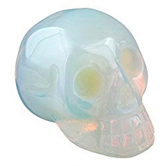 Healing Crystal Stone Human Reiki Skull Figurine Statue Sculptures  (60+ Gemstones, Styles, and Sizes Available)