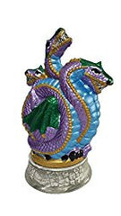 Purple Three Headed Dragon Cone Incense Burner