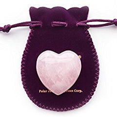 Rose Quartz Heart Shaped Crystal Healing Palm Stone