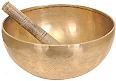 Tibetan Buddhist Singing Bowl - Bronze and Wood Statue