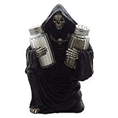 Hoodoo Altar Statue Apothecary Jars - Ceramic Salt and Pepper Sets
