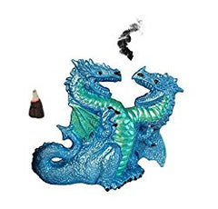 Double Headed Blue Winged Dragon, Cone Incense Burner