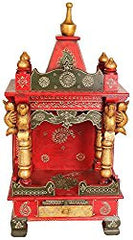 Big Exotic India Temple Wooden Prayer Meditation Altar Table