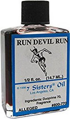 Hoodoo Perfumed Anointing Oil - RUN DEVIL RUN 1/2oz .5oz Run Devil Run Magical Spirit Oils