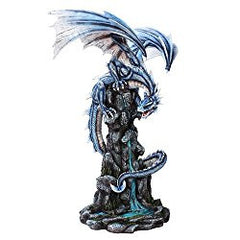 Extra Large Blue Water Dragon Statue Finish Made of Polyresin