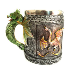 Anself Unique Stainless Steel 3D Royal Dragon Coffee Mug Cup Tankard Novelty, Decoration Gift