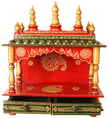 Exotic India Temple Wooden Altar Table