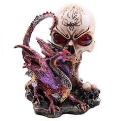 Necromancer's Fire Eyes Fantasy Dragon Collectable Figurine - 13 Black Cats - 1