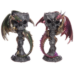 Necromancer's Skull Goblet Altar Chalice Dark Legends Dragon Figurine - 13 Black Cats - 1