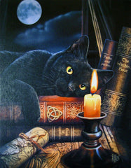 Black Cat Witching Hour Canvas Art Print by Lisa Parker - 13 Black Cats