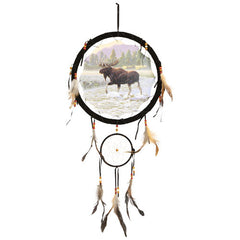 "Dream Catcher - 13"" (33"" tall) - 13 Black Cats - 17"
