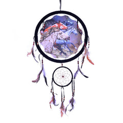 "Dream Catcher - 13"" (33"" tall) - 13 Black Cats - 1"