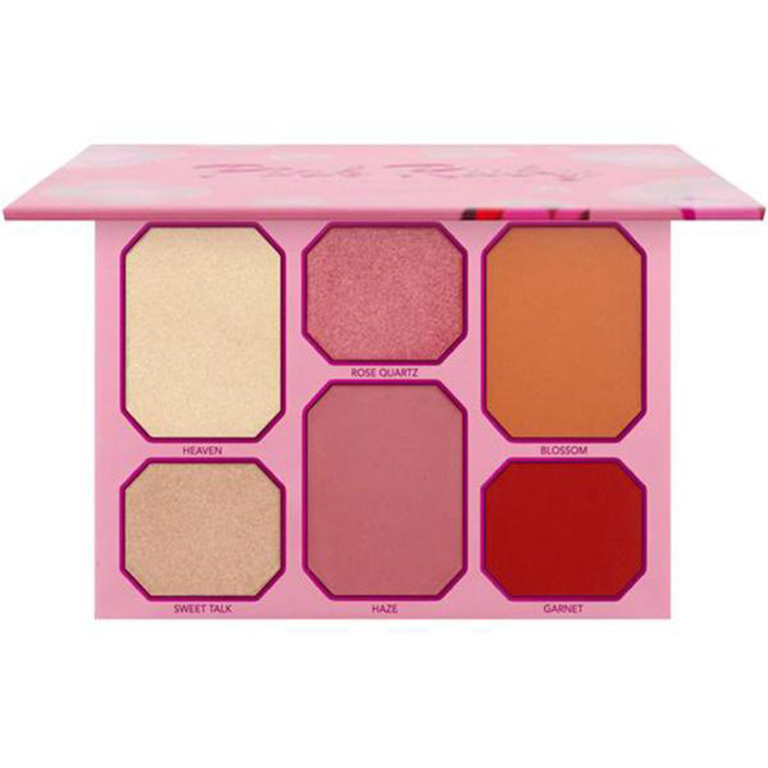 Paleta de Rubor e Iluminador Pink Ruby Amor Us - Venta al Por Mayor Display 12PZS (CO-PRFD)