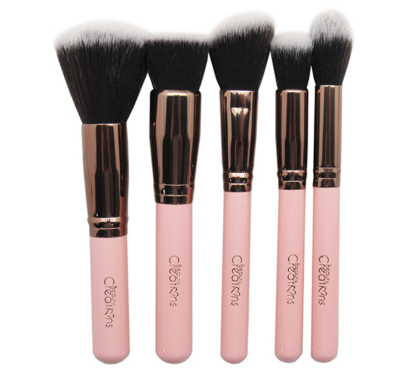 Set de Brochas 12PZS Royal Rose Beauty Creations - Venta al por mayor Pack 6PZS (10BSR3)