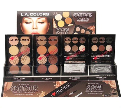 Venta al por Mayor LAColors Contour & Brow Palette Combo 48 pc display