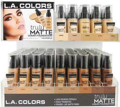 Venta al por mayor LAColors Base Truly Matte Display 126pz