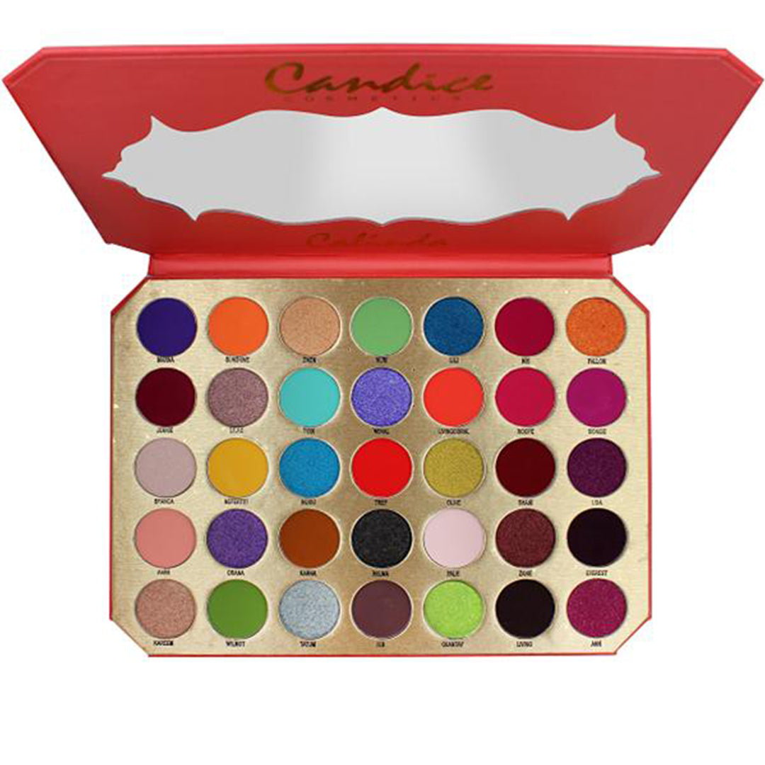 Paleta de Sombra 35 Colores Be Calinda Candice -Venta al por mayor  Pack 5PZS (CAN-EP35CL)