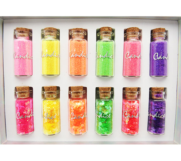 Set Glitter Neon Candice - Venta al por mayor 1PZS (CAN-GS500)