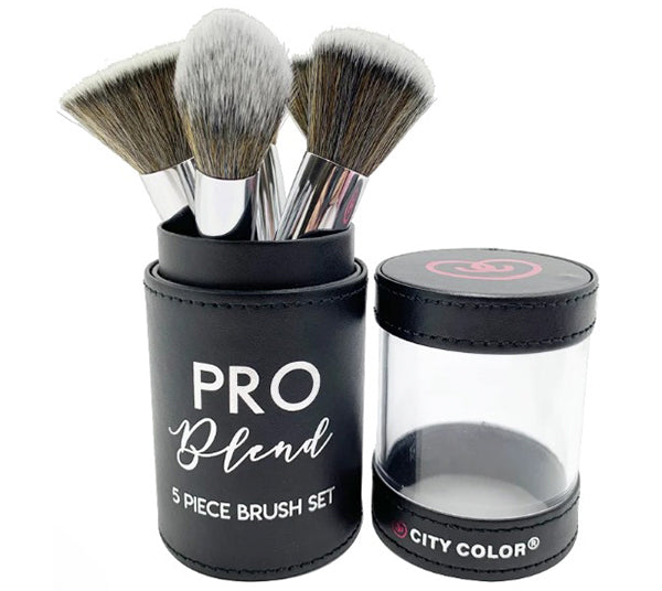 Set de Brochas Pro Blend de 5 piezas City Color - Venta al por mayor Pack 4PZS (T-0024)