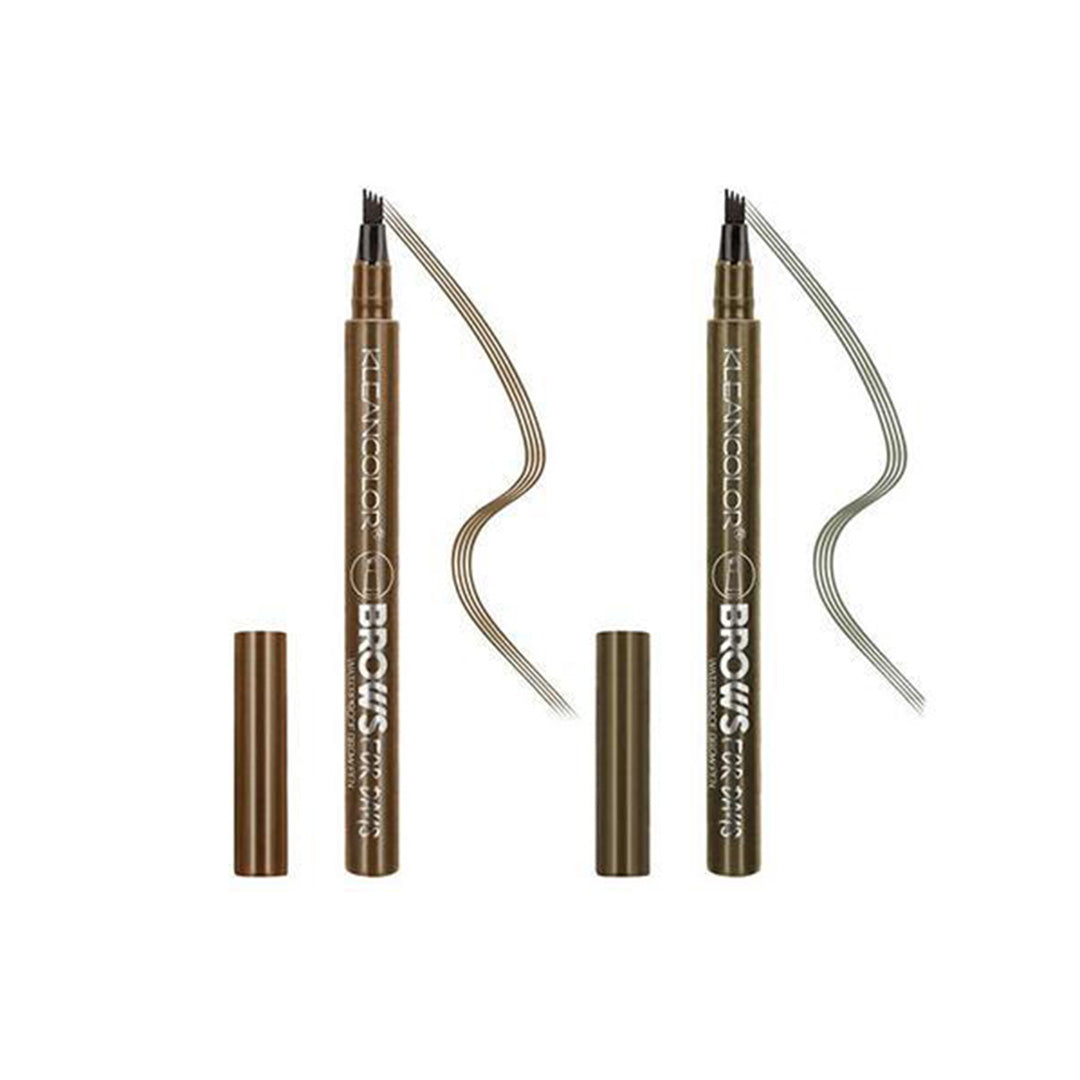 Lápiz Impermeable para Cejas - Brows for Days - Kleancolor - Venta al por Mayor Display 36PZS (AEP404)