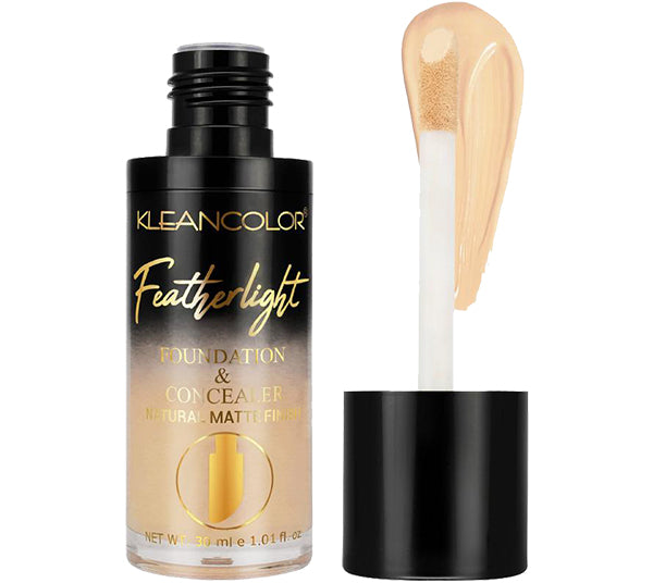 Base y Corrector Feather Ligth - Light -Mediun Kleancolor - Venta al por mayor Display 24PZS (LF948)