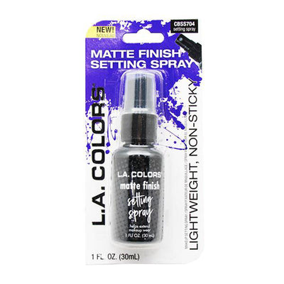 Venta al por mayor L.A. Colors Matte Finish Setting Spray Pack 24PZS (CBSS704)