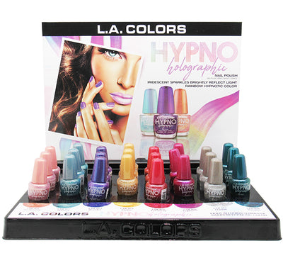 Venta al por mayor L.A. Colors Hypno Holographic Polish Display 24 PCS (CLAC438)