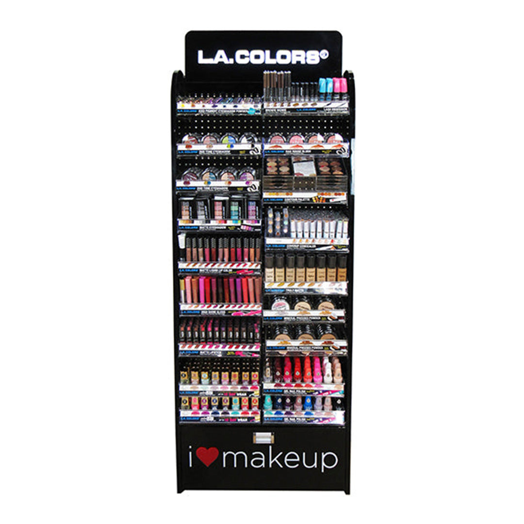 Exhibidor de Piso De Maquillaje L.A. Colors - Venta al por Mayor Display 1,548PZS (CLAF-2402.1)