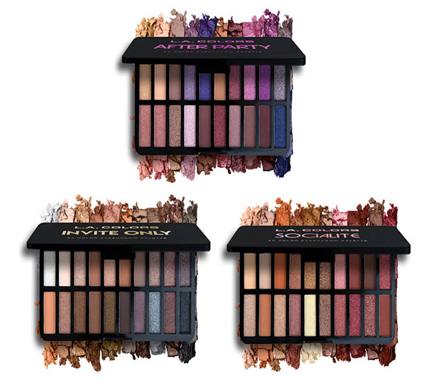 Paleta de Sombras Party L.A. Colors - Venta al por Mayor Display 27PZS (CLAC447)