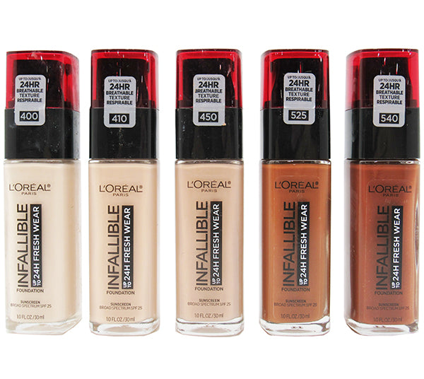 Liquidacion Loreal Base Surtidas Infallible 24HR Fresh Wear Pack 24PZS (LFWLIQUIDATION)