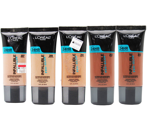 Bases Surtidas Infallible Pro Glow 24HR Loreal - Liquidacion Pack 24PZS (LIPGFLIQUIDATION)