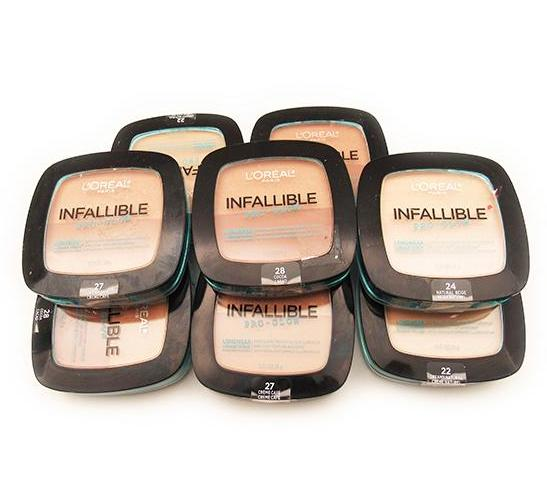 Liquidacion Loreal Infallible Pro - Glow Longwear Powder Assorted Pack 24PZS (LIPGLIQUIDATION)