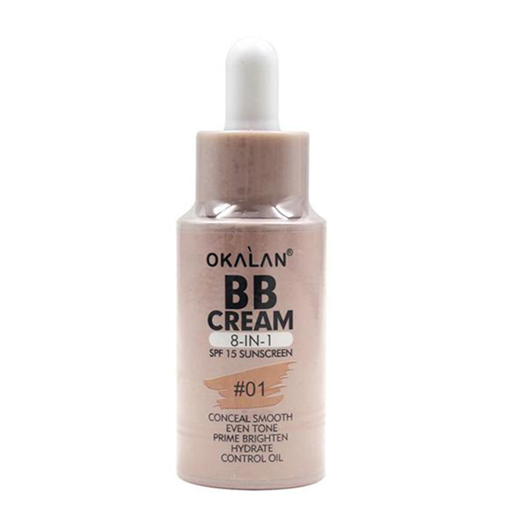 Crema BB 8 IN 1 SPF 15 Sunscreen Okalan - Venta al por mayor Display 24PZS (OKL-F004)