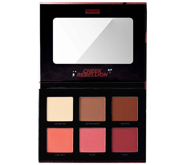 Paleta de Rubor y Contorno de color 6 Cheek Rebellion Perplex - Venta al por mayor Pack 12PZS (PCRC)