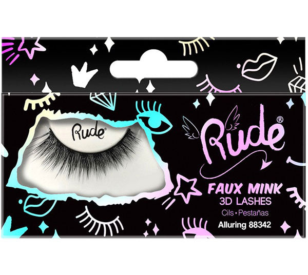 Pestañas 3D de visón falso Seductor Rude Cosmetics - Venta al por mayor Pack 12PZS (RC-88342)
