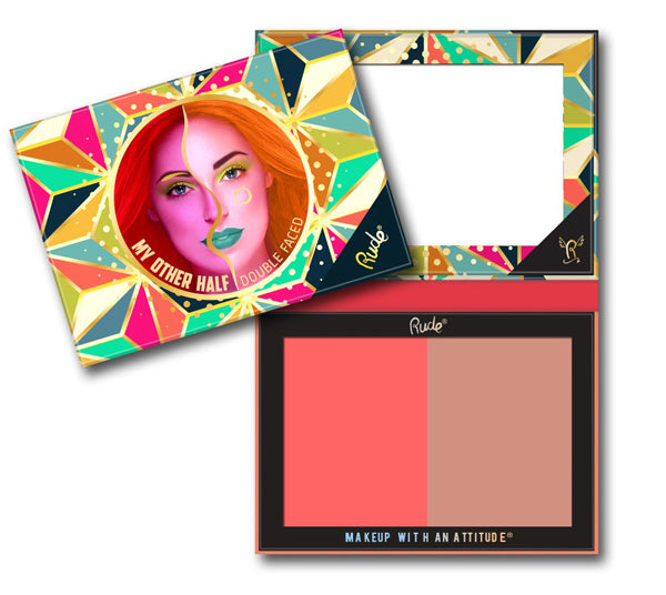 Paleta de Sombra Doble Mi Otra Mitad Doble Cara Rude Cosmetics - Venta al Por Mayor Pack 6PZS (RC-88412)