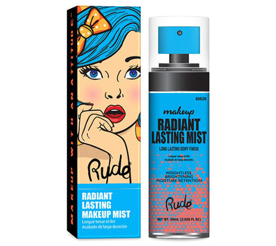 Venta al por mayor Rude Cosmetics Radiant Lasting Makeup Mist Display 12PZS (RC-65528)