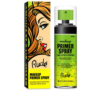 Venta al por mayor Rude Cosmetics Makeup Primer Spray Display 12PZS (RC-87832)