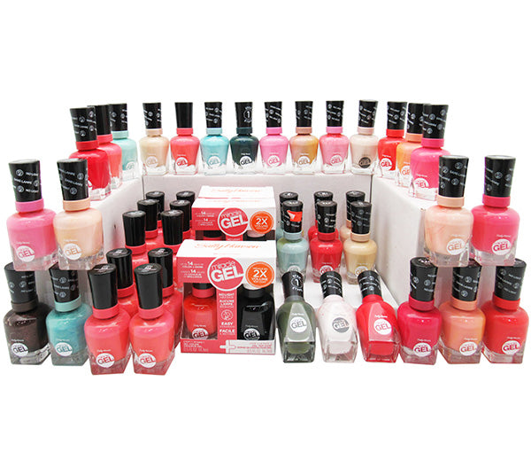 Miracle Gel Color de uñas Caja Surtida Sally Hansen - Venta al por mayor 50PZS (SGPA)