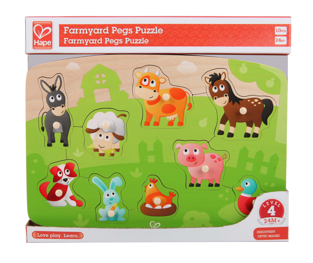 Farmyard Peg Puzzle by Hape