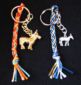 Braided Satin Cord Key Chain