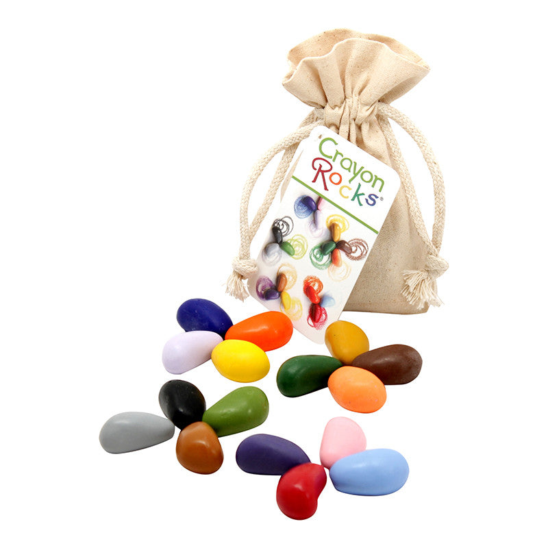 Crayon Rocks 16 Colors in Muslin Bag