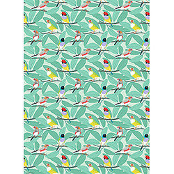Wrapping Paper Roll - Finches