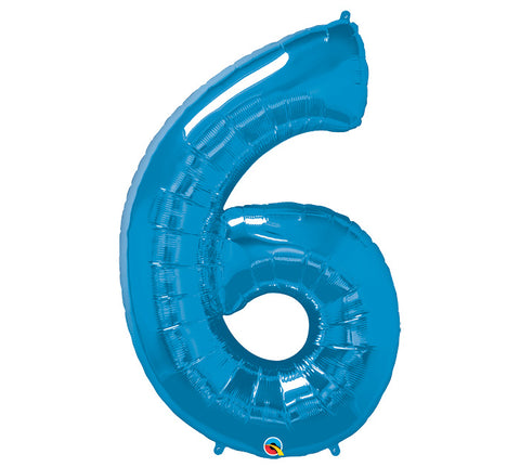 "Number 6 Extra Large 34"" Foil Balloon"