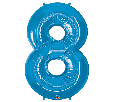 "Number 8 Extra Large 34"" Foil Balloon"