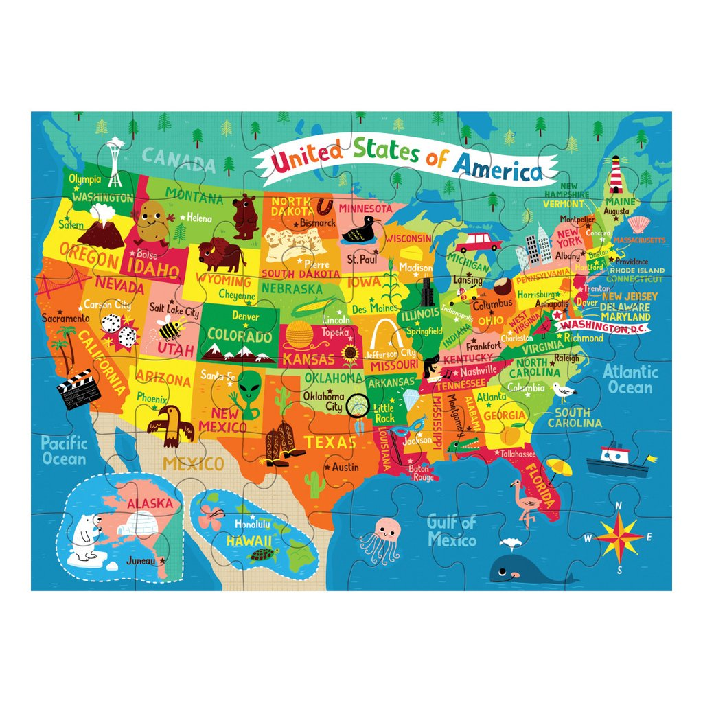 Puzzle To Go Map Of The Usa 36 Pieces Matt Juliette - Map-of-us-puzzle