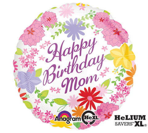 Happy Birthday Mom Foil Balloon