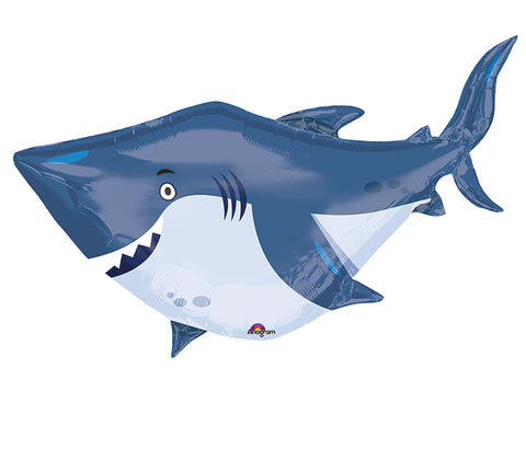 "Ocean Buddies Shark 40"" x 32"" Foil Balloon"