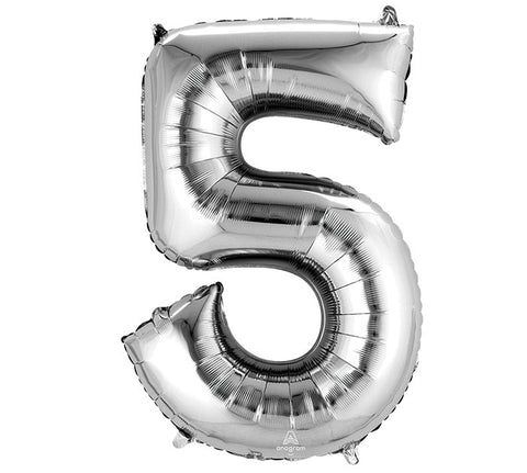 "Number 5 Extra Large 34"" Foil Balloon"