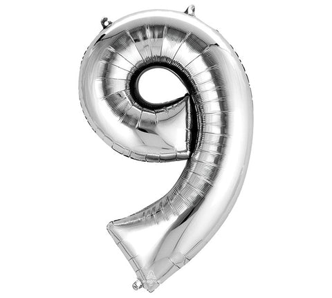 "Number 9 Extra Large 34"" Foil Balloon"